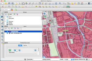 QGIS screenshot of INSPIRE ID