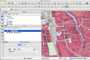 QGIS screenshot of INSPIRE ID